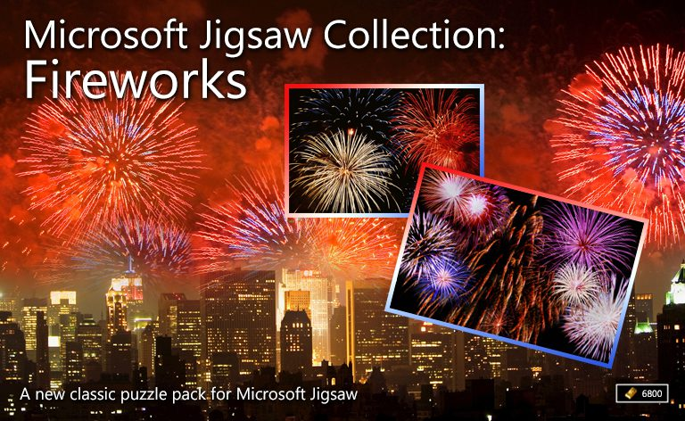 microsoft jigsaw collection fireworks microsoft casual games