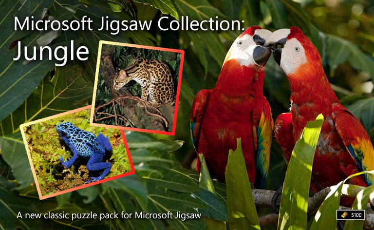 microsoft jigsaw collection jungle microsoft casual games