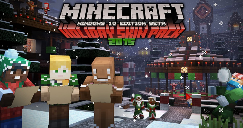 Minecraft Holiday Skins Spread Cheer With The Holiday Skins Pack For - Skins fur minecraft windows 10