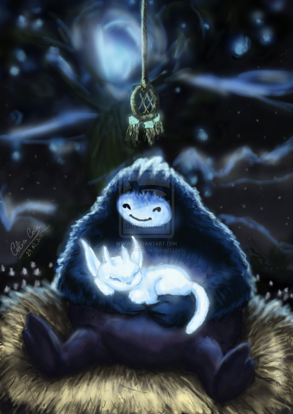 ori_and_naru_by_celiacoca-d8olcby
